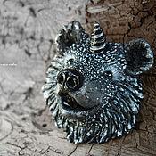 """Украшения ручной работы. Ярмарка Мастеров - ручная работа """"Хранитель Севера. Северный МедвеРог"""" - волшебная брошь. Handmade."""