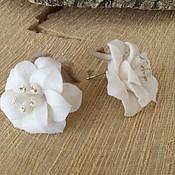 """Украшения ручной работы. Ярмарка Мастеров - ручная работа серьги """" Белые лилии"""" фарфор. Handmade."""