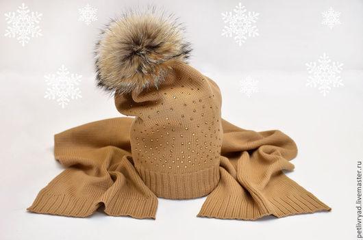 Шапки и шарфы ручной работы. Ярмарка Мастеров - ручная работа. Купить Мериносовая шапочка. Handmade. Белый, вязаная шапка