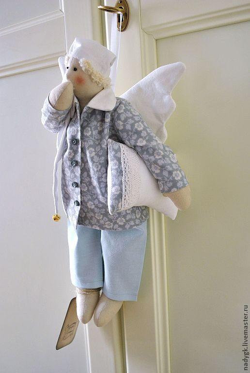 Куклы Тильды ручной работы. Ярмарка Мастеров - ручная работа. Купить Ангел добрых снов  Мартин. Handmade. Голубой, ангел