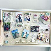 """Открытки ручной работы. Ярмарка Мастеров - ручная работа Открытка-картина в рамке """"Любимой сестре в день 30-тридцатилетия!"""". Handmade."""