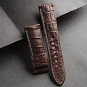 Украшения handmade. Livemaster - original item Crocodile Leather Watchband (16). Handmade.