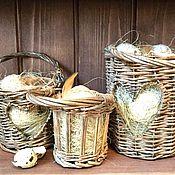 Подарки к праздникам ручной работы. Ярмарка Мастеров - ручная работа Пасхальные корзинки в эко стиле. Handmade.
