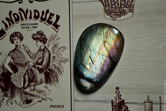 Для украшений ручной работы. Ярмарка Мастеров - ручная работа. Купить Лабрадорит спектролит. Кабошон 41 Х 30 Х 5. Handmade.