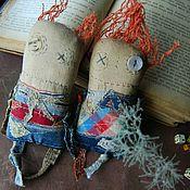 Куклы и игрушки ручной работы. Ярмарка Мастеров - ручная работа Текстильные куклы-примитивы ПаУза и Аккорд. Handmade.