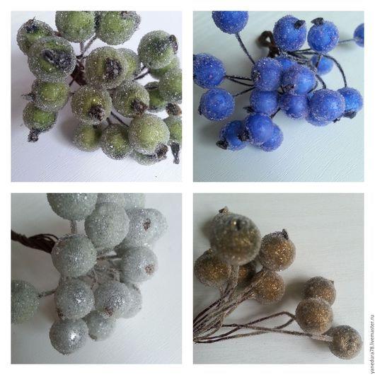 Искусственные растения ручной работы. Ярмарка Мастеров - ручная работа. Купить разноцветные ягоды в сахаре. Handmade. Комбинированный, в сахаре, проволока
