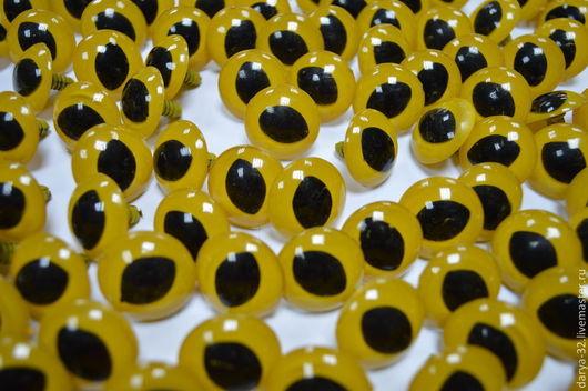 Куклы и игрушки ручной работы. Ярмарка Мастеров - ручная работа. Купить Глаза кошачьи винтовые 24 мм.. Handmade. Глаза
