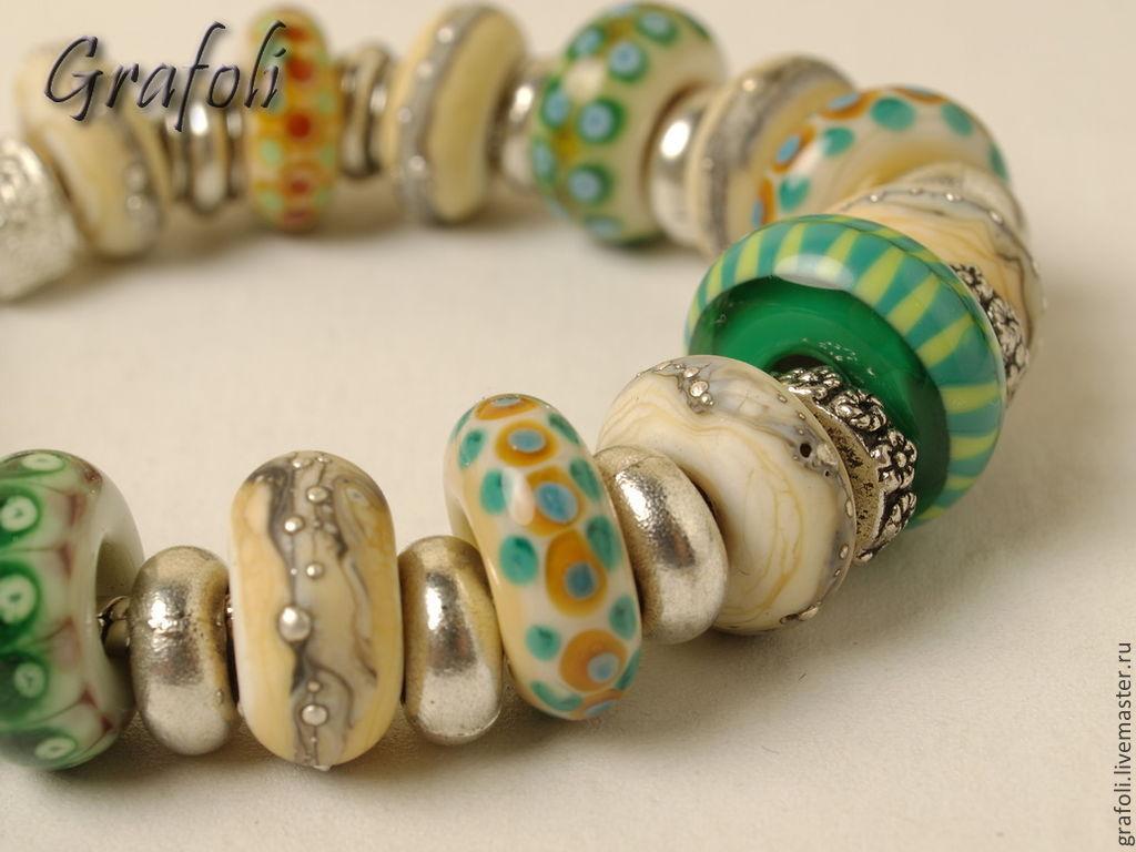 Bracelet early spring, Bead bracelet, Moscow,  Фото №1
