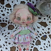 Брошь-булавка ручной работы. Ярмарка Мастеров - ручная работа Брошка, брошь ручной работы, кукла-брошь, текстильная кукла, кукла. Handmade.