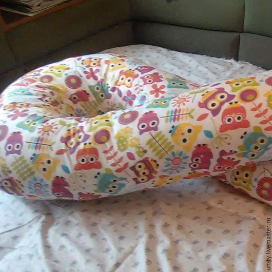 Текстиль, ковры ручной работы. Ярмарка Мастеров - ручная работа. Купить Подушка для беременных на все тело. Handmade. Серый, подушка для ребенка