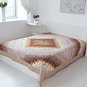 Свадебный салон handmade. Livemaster - original item Wedding patchwork blanket