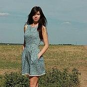 """Одежда ручной работы. Ярмарка Мастеров - ручная работа Летнее платье """" Голубое кружево"""". Handmade."""