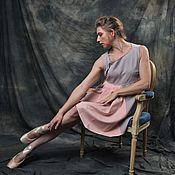 Платья ручной работы. Ярмарка Мастеров - ручная работа Платье Variato cерое. Handmade.
