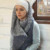 """Одежда ручной работы. Ярмарка Мастеров - ручная работа Жилет-пальто валяный """"Серый жемчуг"""". Handmade."""