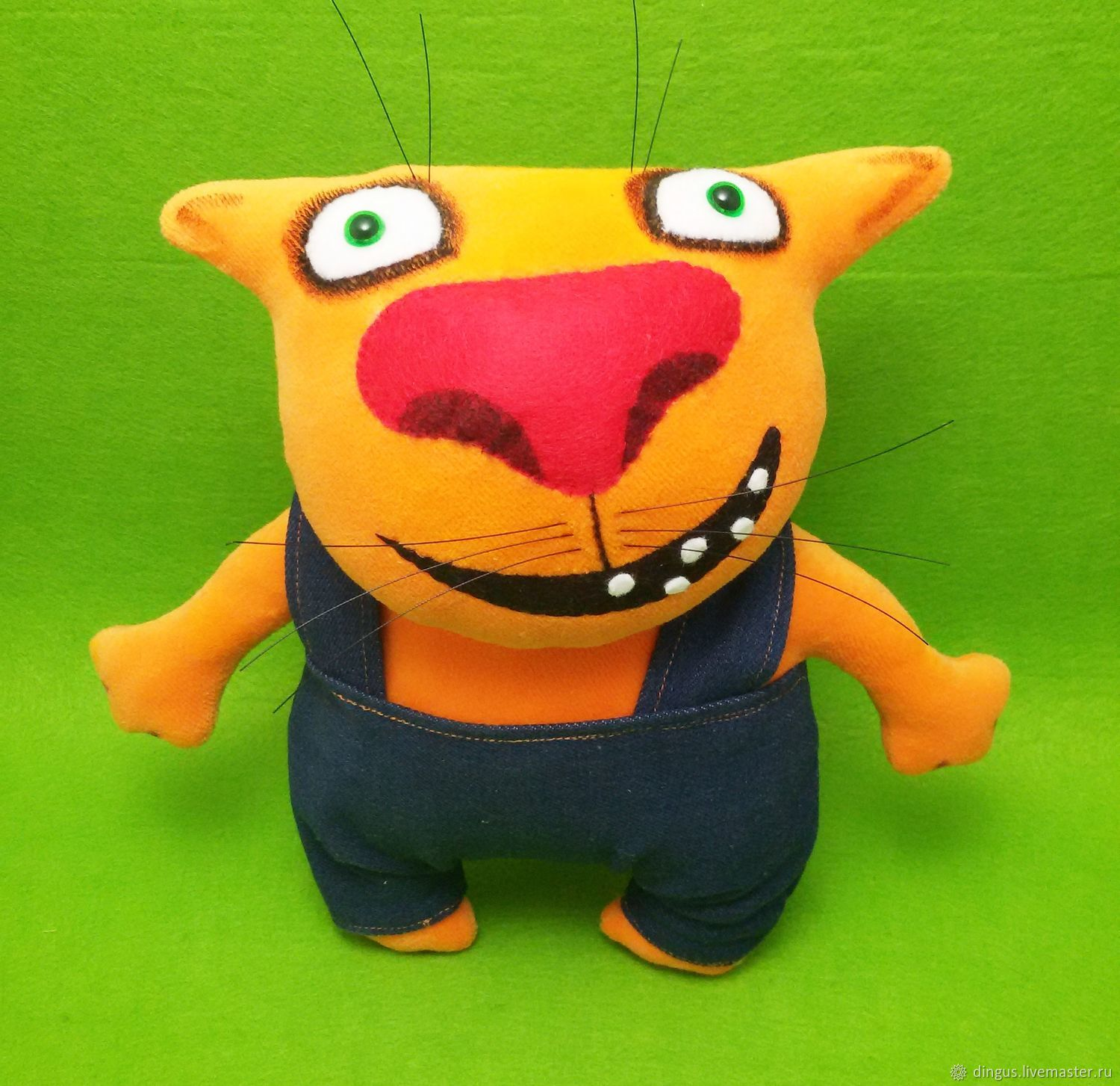 Toy Fat Cat In Overalls Shop Online On Livemaster With Shipping