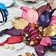 """Броши ручной работы. Ярмарка Мастеров - ручная работа. Купить Кожаная Брошь «Золотые искры фиолетовой Плейоны"""". Handmade."""