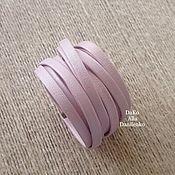 Розовый Браслет Чокер  Украшение трансформер из натуральной кожи