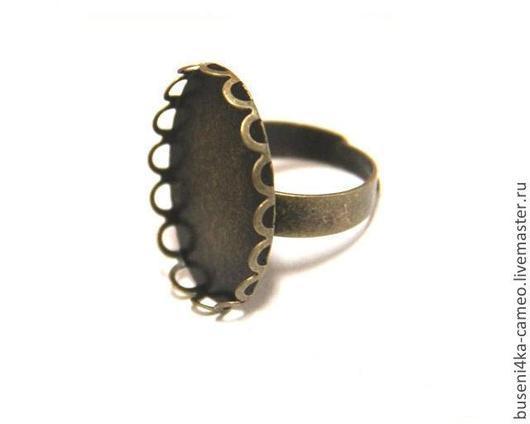 Для украшений ручной работы. Ярмарка Мастеров - ручная работа. Купить Основа для кольца Лепестки 18х25мм, античная бронза (1шт). Handmade.