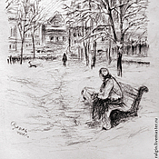 Картины и панно ручной работы. Ярмарка Мастеров - ручная работа Графика Москвы (разные работы). Handmade.