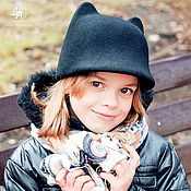 Аксессуары handmade. Livemaster - original item Zhokeyka with ears children`s