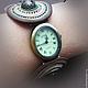 """Браслеты ручной работы. Ярмарка Мастеров - ручная работа. Купить Часы-браслет  """"Омут"""". Handmade. Браслет, часики, бисер, сутаж"""