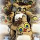 Ароматизированные куклы ручной работы. Игрушка - сувенир Сова кофейная. Александр- Инна. Ярмарка Мастеров. Сова, хлопковая ткань