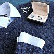 Одежда ручной работы. Ярмарка Мастеров - ручная работа Твидовый мужской свитер. Handmade.