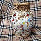 Вазы ручной работы. Ярмарка Мастеров - ручная работа Мозаичная керамическая ваза. Handmade.