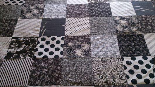 Текстиль, ковры ручной работы. Ярмарка Мастеров - ручная работа. Купить Покрывало черно-белое. Handmade. Покрывало черно-белое