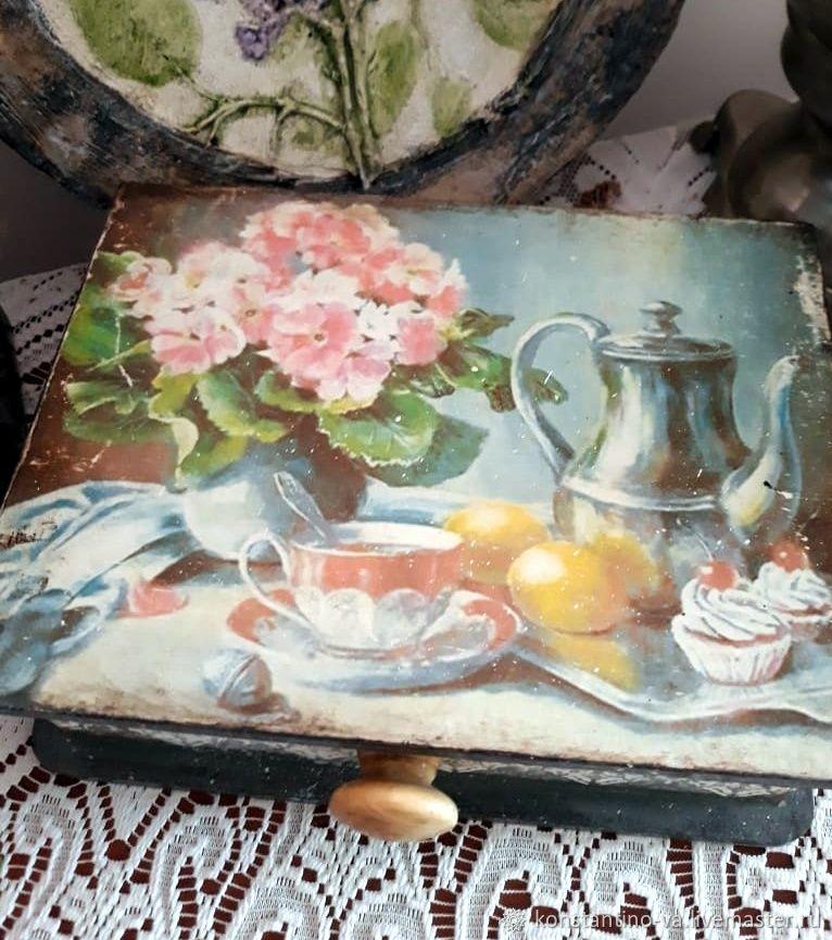Шкатулка: Чайно-кофейная, Шкатулки, Краснодар,  Фото №1