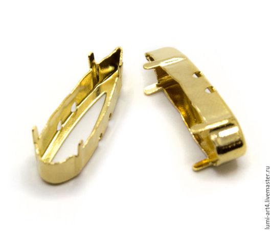 Для украшений ручной работы. Ярмарка Мастеров - ручная работа. Купить Оправа 30 мм золото для Raindrop Сваровски цапы для кристаллов. Handmade.