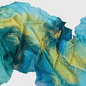 Аксессуары ручной работы. Ярмарка Мастеров - ручная работа Валяный шарф Сквозь волну. Handmade.