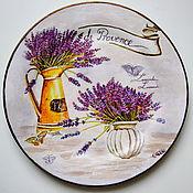 Посуда ручной работы. Ярмарка Мастеров - ручная работа Тарелка декоративная На тему Прованса. Handmade.