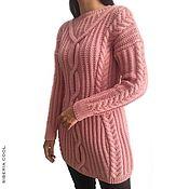 Одежда handmade. Livemaster - original item Tunic Scottish tweed, lots of braids, half-wool, pink. Handmade.