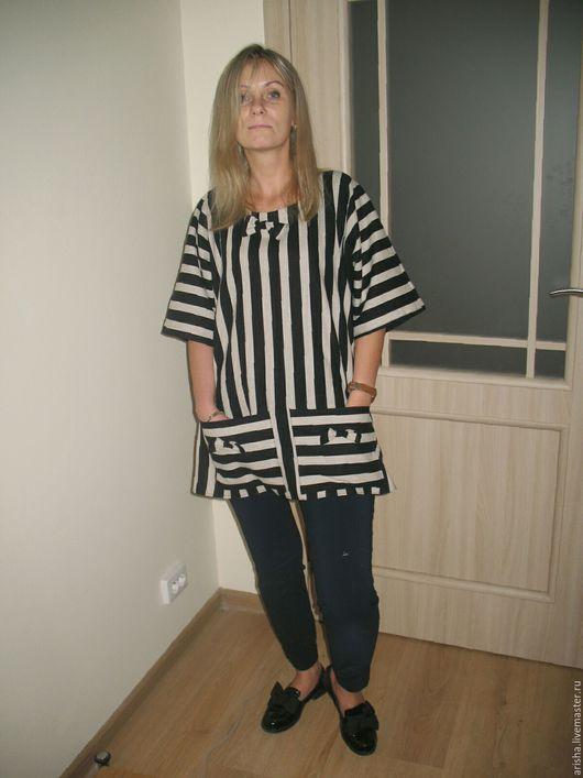 Блузки ручной работы. Ярмарка Мастеров - ручная работа. Купить распродажа бохо блуза (лен). Handmade. Хлопок, бохо