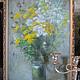 Картины цветов ручной работы. Заказать Полевые цветы в стеклянной вазе... AllaRo. Ярмарка Мастеров. Полевые цветы, ромашки, пижма