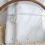 Материалы для творчества ручной работы. Ярмарка Мастеров - ручная работа Новогодняя  ткань белая в снежинки. Handmade.