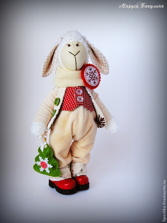 New year sheep, symbol of 2015, Tilda Toys, St. Petersburg,  Фото №1