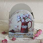 Корзины ручной работы. Ярмарка Мастеров - ручная работа подставка Цветочное настроение. Handmade.