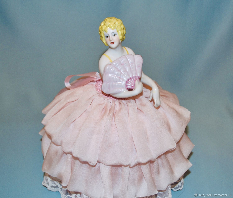 Винтаж: Большая старинная кукла половинка / Кукла игольница / Half doll, Куклы винтажные, Вышний Волочек,  Фото №1