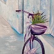 Картины и панно ручной работы. Ярмарка Мастеров - ручная работа Картина маслом  Лаванда. Handmade.