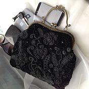 handmade. Livemaster - original item Bag with clasp Irish lace. Handmade.