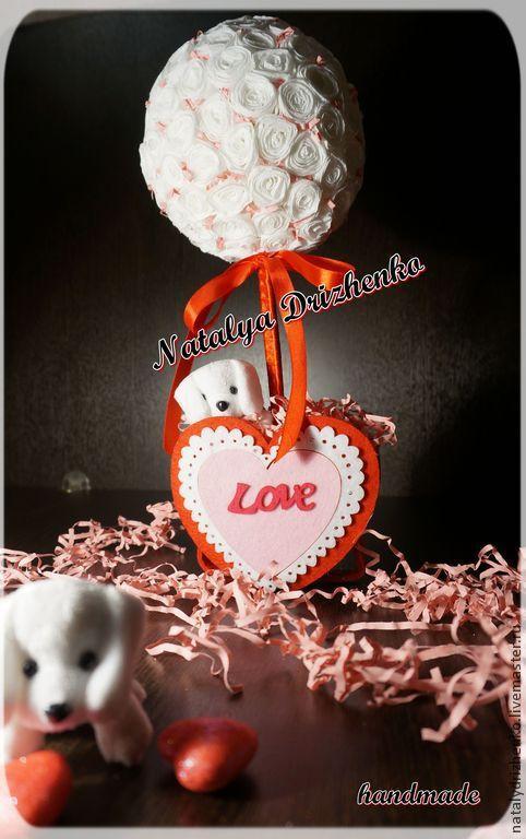 """Топиарии ручной работы. Ярмарка Мастеров - ручная работа. Купить Топиарий """"Sweet love"""". Handmade. Розовый, дерево любви, любовь"""