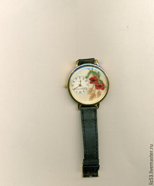Часы ручной работы. Ярмарка Мастеров - ручная работа. Купить Часы наручные. Handmade. Разноцветный, часы в подарок, вышивка в часах