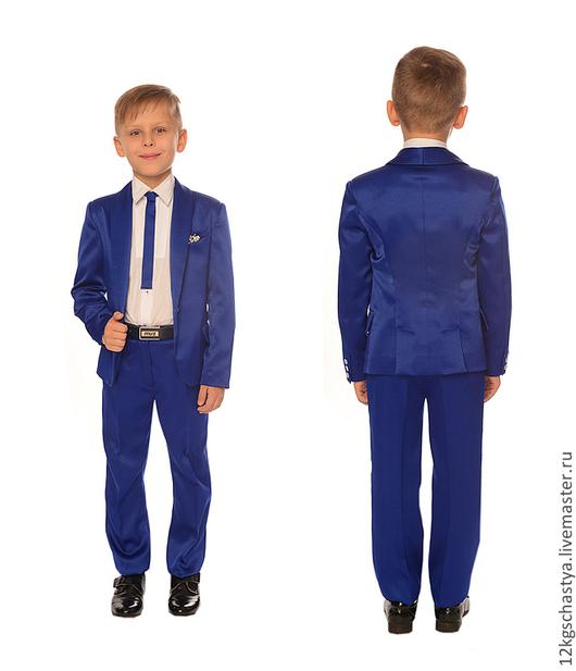 """Одежда для мальчиков, ручной работы. Ярмарка Мастеров - ручная работа. Купить Костюм для мальчика """"Оскар"""". Handmade. Тёмно-синий"""