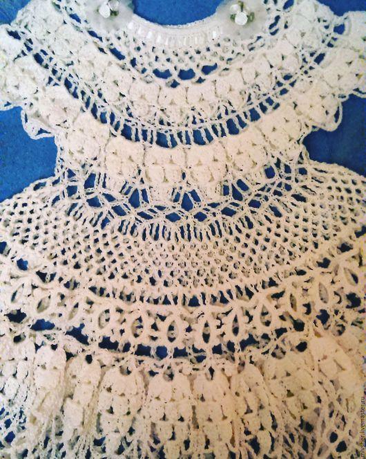 Одежда для девочек, ручной работы. Ярмарка Мастеров - ручная работа. Купить Ажурное белое платье для девочки 3х лет. Handmade.