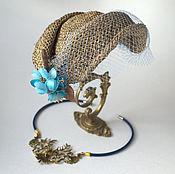 Аксессуары ручной работы. Ярмарка Мастеров - ручная работа соломенная шляпка в стиле ретро винтаж. Handmade.