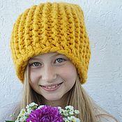 "Аксессуары ручной работы. Ярмарка Мастеров - ручная работа Вязаная шапка ""Sunflower"". Handmade."