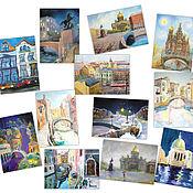 Открытки handmade. Livemaster - original item Cards Types of Gift lover of travel Set of 12 PCs. Handmade.