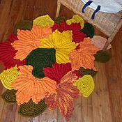 Для дома и интерьера ручной работы. Ярмарка Мастеров - ручная работа Ковер из осенних листьев вязаный. Handmade.